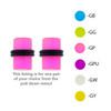 Lex & Lu Pair of Acrylic Glow in the Dark Ear Plugs w/Black O-Rings 10G-0 Gauge-2-Lex & Lu