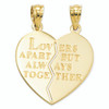 Lex & Lu 14k Yellow Gold I Love You Heart Break-a-Part Reversible Pendant-2-Lex & Lu