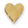 Lex & Lu 14k Yellow Gold Polished Reversible Cut-out Heart Chain Slide-Lex & Lu