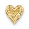 Lex & Lu 14k Yellow Gold Polished Reversible Cut-out Heart Chain Slide-2-Lex & Lu