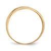 Lex & Lu 14k Yellow Gold Polished D/C Four Ridge Fashion Dome Ring-2-Lex & Lu