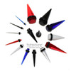 "Lex & Lu Pair of Acrylic Ear Expander Stretcher Taper Plugs, Gauges 14 Thru 5/8""-6-Lex & Lu"