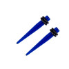 "Lex & Lu Pair of Acrylic Ear Expander Stretcher Taper Plugs, Gauges 14 Thru 5/8""-2-Lex & Lu"