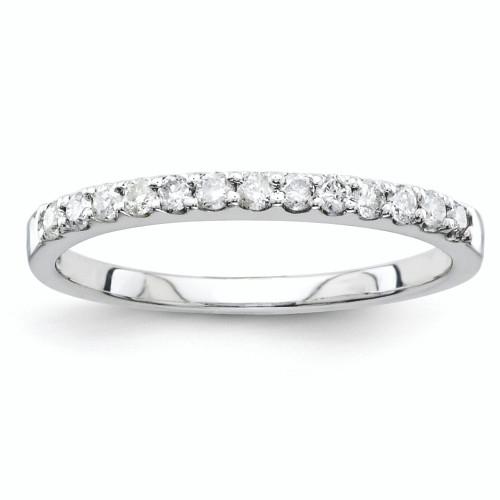 Lex & Lu 14k Diamond Wedding Band Ring LAL101338-Lex & Lu