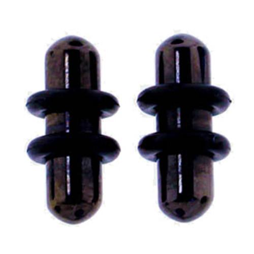 Lex & Lu Pair of Steel Plated Ear Plugs Earlet Gauges w/Round Ends 10G-00 Gauge-Lex & Lu
