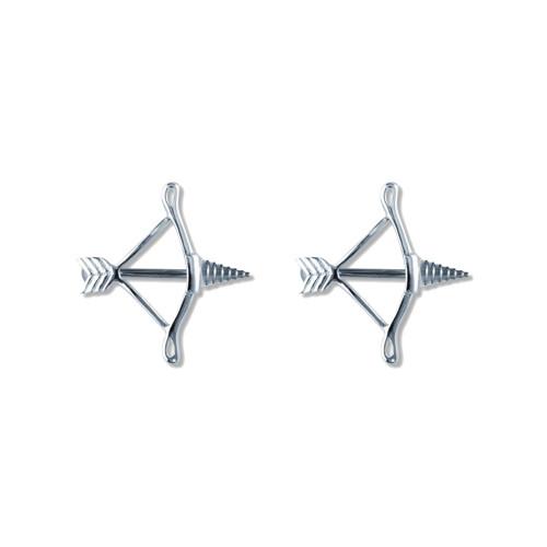 Lex & Lu Pair of Steel Barbell w/Nipple Shields Rings, 14 Gauge-110-Lex & Lu