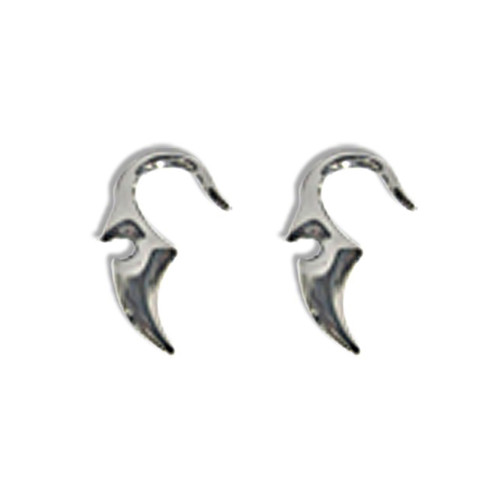 Lex & Lu Pair of Cast Steel Taper Expander Plug Talon 8-4G Earrings-138-Lex & Lu