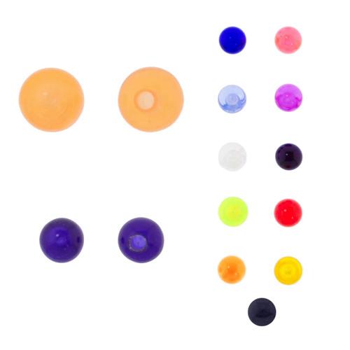 Lex & Lu Pair of Acrylic UV Sensitive Threaded Replacement Balls 16&14 Gauge-Lex & Lu