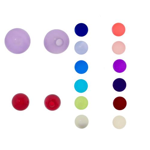 Lex & Lu Pair of Acrylic UV Sensitive Illusion Threaded Replacement Balls 16&14 Gauge-Lex & Lu