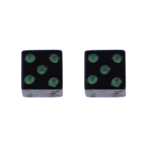 Lex & Lu Pair of Acrylic Threaded Replacement Neon Dice 5mm Cubes w/14 Gauge Threads-Lex & Lu