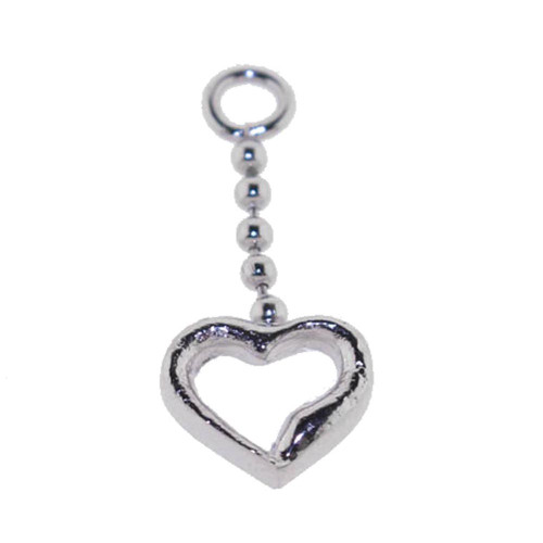 Lex & Lu Add On Heart Charm Dangle, Fits 18,16,14,or 12 Gauge - Heart 110-Lex & Lu