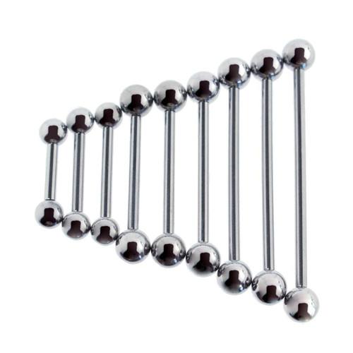 Lex & Lu Steel Barbell Tongue Ring, Nipple, Body Piercing 12 Gauge-Lex & Lu
