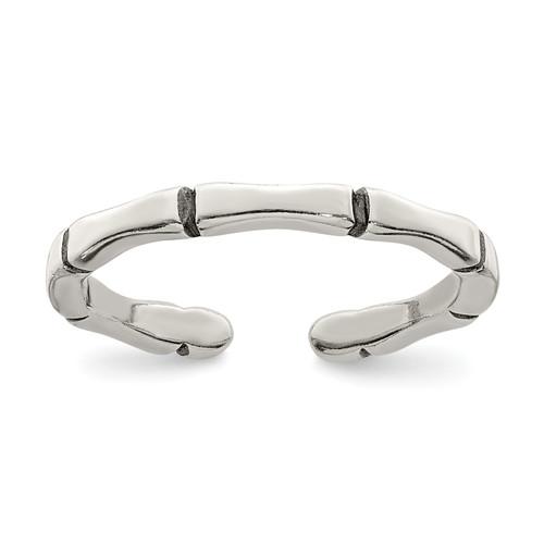Lex & Lu Sterling Silver Solid Toe Ring LAL116681 - Lex & Lu