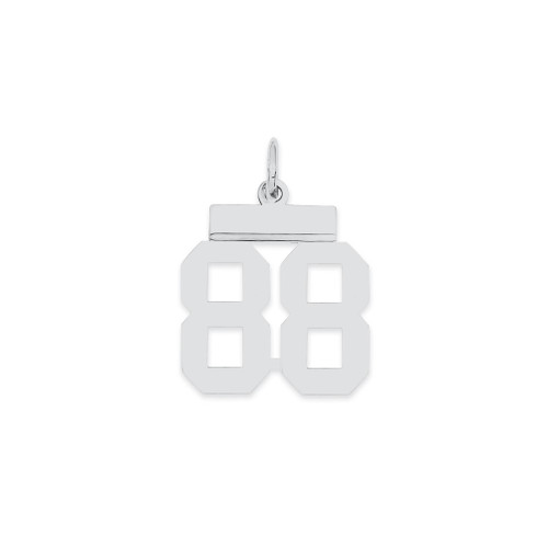 Lex & Lu Sterling Silver Small Polished Number 88 - Lex & Lu