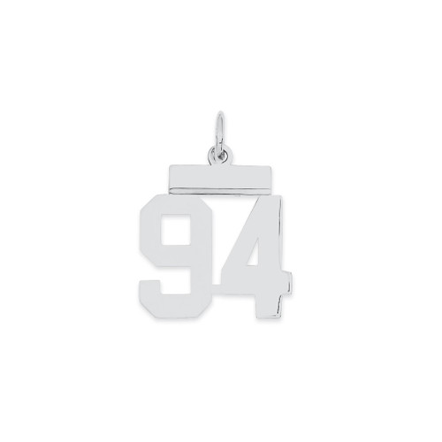 Lex & Lu Sterling Silver Small Polished Number 94 - Lex & Lu