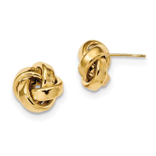 Lex & Lu 14k Yellow Gold Polished Love Knot Post Earrings LAL119208-Lex & Lu