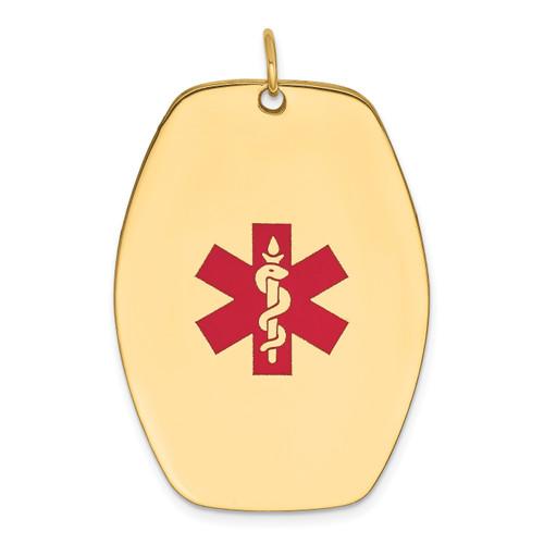 Lex & Lu 14k Yellow Gold Medical Jewelry Pendant LAL119782 - Lex & Lu