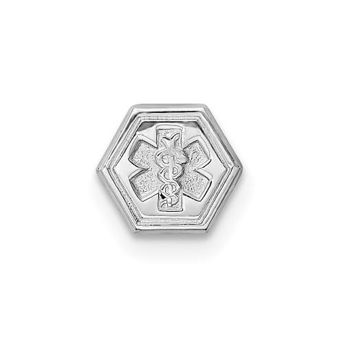 Lex & Lu Sterling Silver Non-enameled Attachable Emblem Medical Charm LAL120418 - Lex & Lu