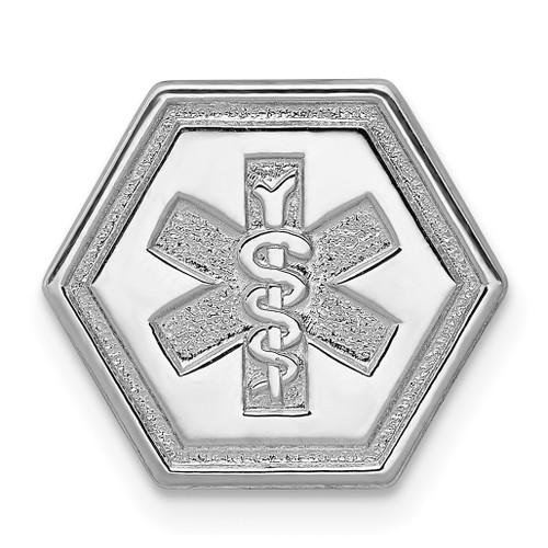Lex & Lu Sterling Silver Non-enameled Attachable Emblem Medical Charm LAL120420 - Lex & Lu