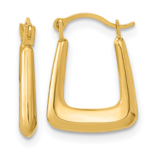 Lex & Lu 14k Yellow Gold Polished Hollow Fancy Hoops - Lex & Lu