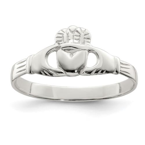 Lex & Lu Sterling Silver Claddagh Ring LAL124145 - Lex & Lu