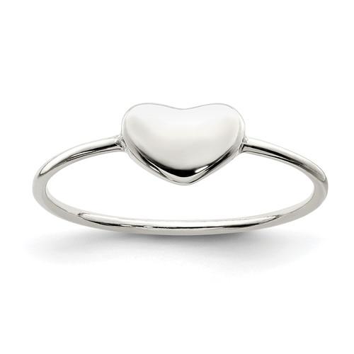 Lex & Lu Sterling Silver Polished Heart Ring LAL125215 - Lex & Lu