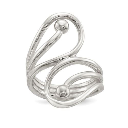 Lex & Lu Sterling Silver Polished Fancy Swirl Ring - Lex & Lu