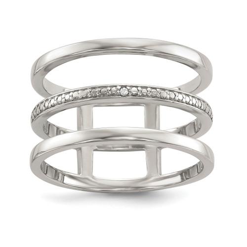 Lex & Lu Sterling Silver Diamond Accent Ring LAL125356 - Lex & Lu