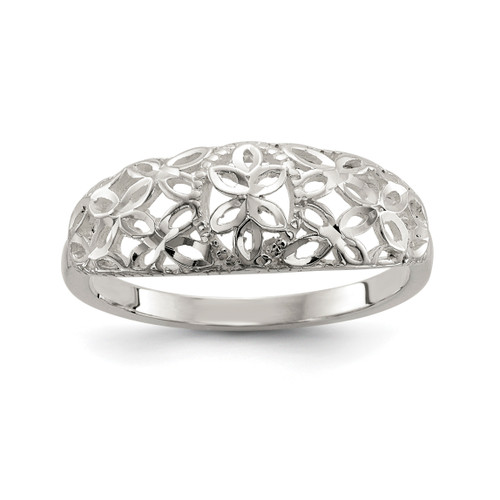 Lex & Lu Sterling Silver D/C Filigree Ring - Lex & Lu