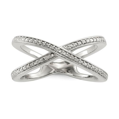 Lex & Lu Sterling Silver Diamond Accent Ring LAL125421 - Lex & Lu