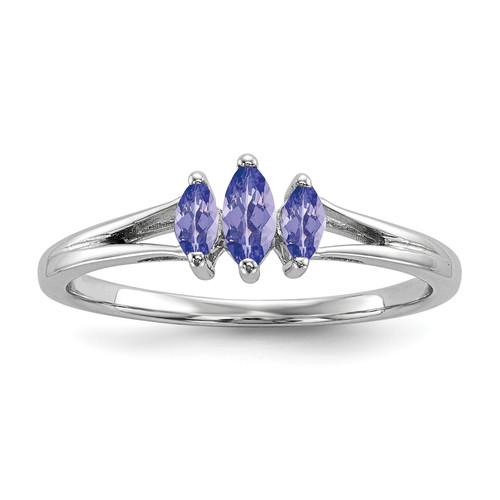 Lex & Lu Sterling Silver Tanzanite Ring LAL125516 - Lex & Lu