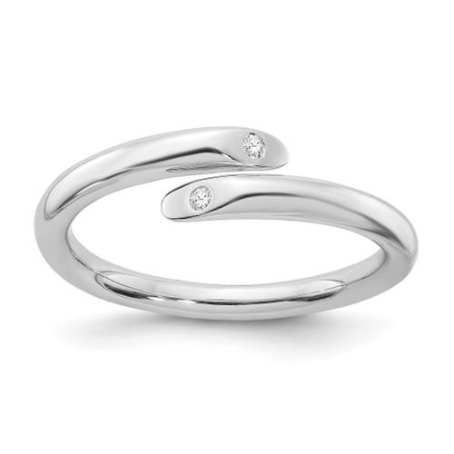 Lex & Lu Sterling Silver White Ice .02ct. Diamond Ring - Lex & Lu