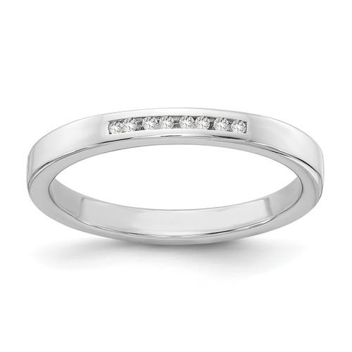 Lex & Lu Sterling Silver White Ice .05ct. Diamond Ring - Lex & Lu