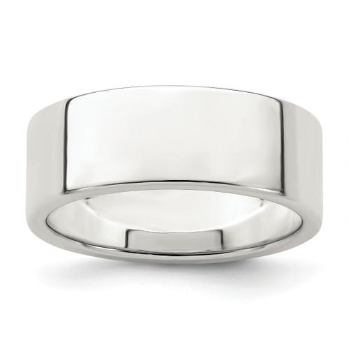 Lex & Lu Sterling Silver 7mm Flat Band Ring - Lex & Lu