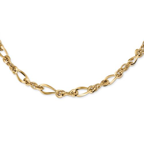 Lex & Lu 14k Yellow Gold Polished Fancy Link Bracelet or Necklace - Lex & Lu