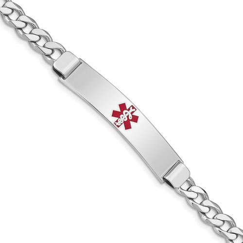 Lex & Lu Sterling Silver Medical ID Curb Link Bracelet LAL125880 - Lex & Lu