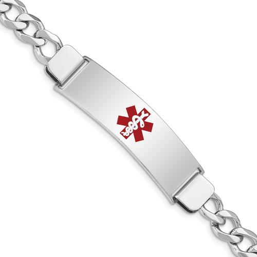 Lex & Lu Sterling Silver Medical ID Curb Link Bracelet LAL125881 - Lex & Lu
