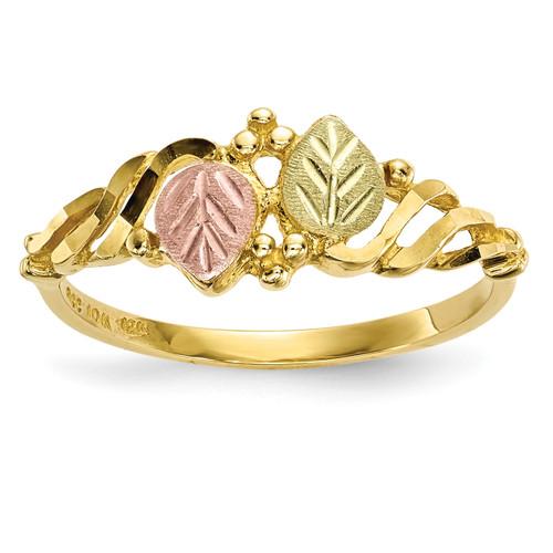 Lex & Lu 10k Tri-Color Black Hills Gold Ring Size 7 LAL125901 - Lex & Lu