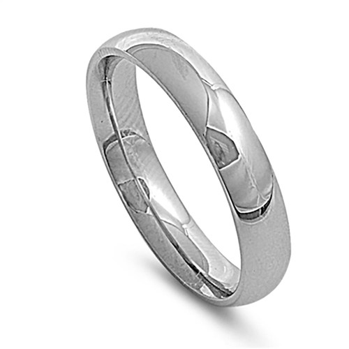 Lex & Lu 5mm High Polish Stainless Steel Comfort Fit Wedding Band Ring Size 5-12-Lex & Lu