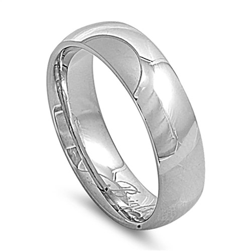 Lex & Lu 7mm High Polish Stainless Steel Comfort Fit Wedding Band Ring Size 7-14-Lex & Lu