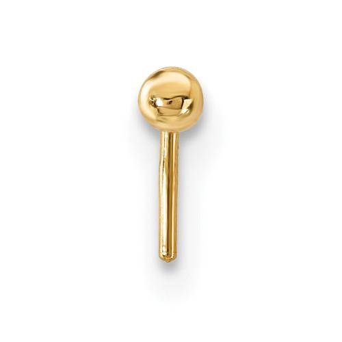Lex & Lu 14k Yellow Gold 22 Gauge 2mm Ball Nose Stud BD113-Lex & Lu