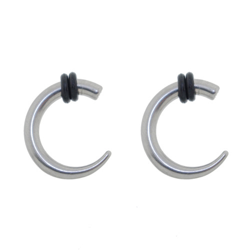 Lex & Lu Pair of Steel Claw Taper Expander Strecher Plug Gauges 8G or 6G-Lex & Lu