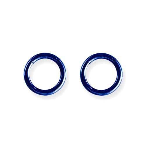 "Lex & Lu Pair of Titanium Seamless Captive 10 Gauge 7/16"" Dia Blue-Lex & Lu"