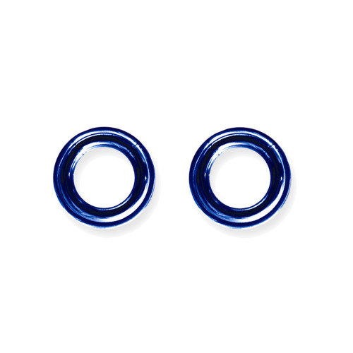 "Lex & Lu Pair of Titanium Seamless Captive 6 Gauge 1/2"" Dia Blue-Lex & Lu"