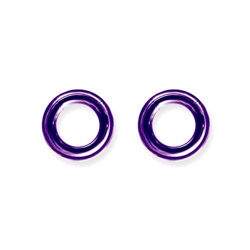 "Lex & Lu Pair of Titanium Seamless Captive 6 Gauge 1/2"" Dia Purple-Lex & Lu"