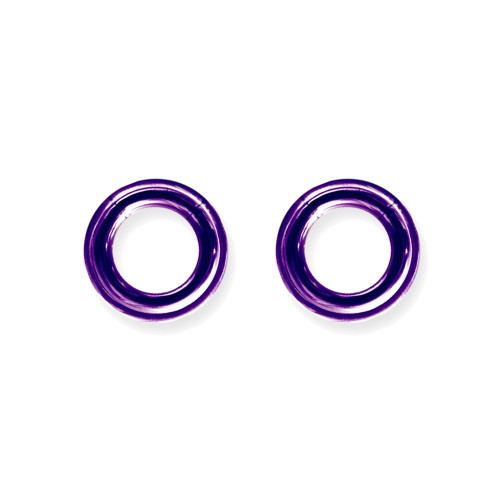 "Lex & Lu Pair of Titanium Seamless Captive 6 Gauge 1/2"" Dia Purple-Lex & Lu"