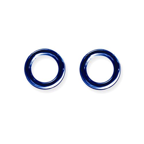 "Lex & Lu Pair of Titanium Seamless Captive 8 Gauge 1/2"" Dia Blue-Lex & Lu"