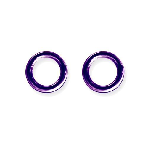 "Lex & Lu Pair of Titanium Seamless Captive 8 Gauge 1/2"" Dia Purple-Lex & Lu"