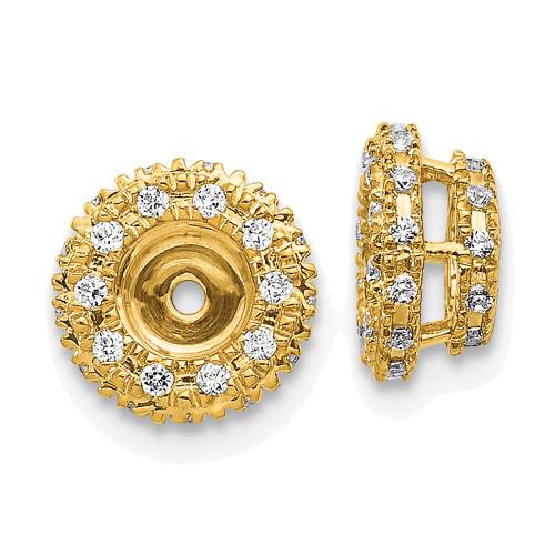 Lex & Lu 14k Yellow Gold Diamond Earring Jackets LAL771-Lex & Lu