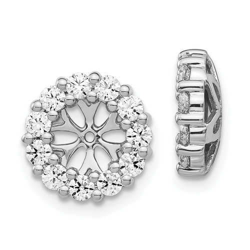 Lex & Lu 14k White Gold Diamond Earring Jackets LAL801-Lex & Lu